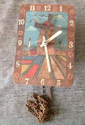 Antique Cuckoo Clock Style Articulated Windmill 15x10x6cm For Restoration