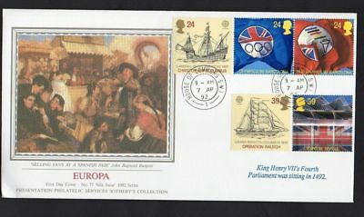 1992 Europa FDC House of Commons CDS  Postmark Sent Post Free