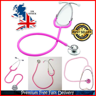 Dual Head Stethoscope Bell Diaphragm Stethoscope Ruby Dual Head Pink Latex Free