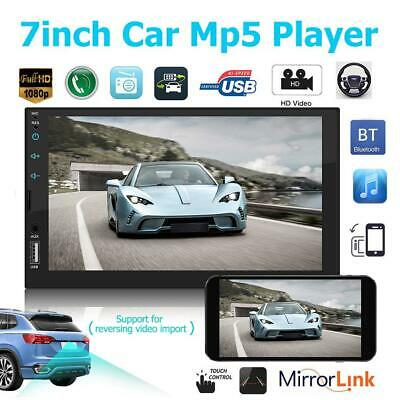 """2 DIN 7"""" Car Stereo Radio MP5 FM Player AUX Android/IOS Mirror Link Touch Screen"""