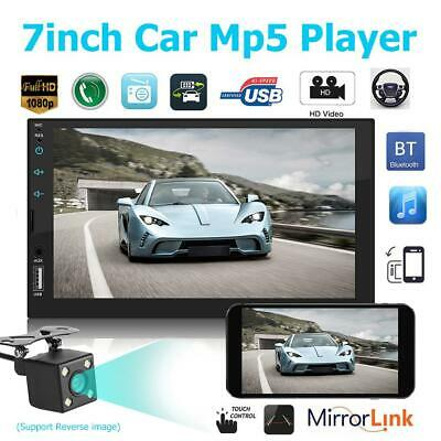 """2 DIN 7"""" Car Stereo Radio MP5 FM Player AUX Android/IOS Mirror Link Touch + Cam"""