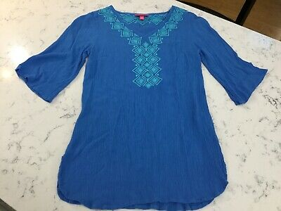 e80246b73ff Lilly Pulitzer for Target Gauze Tunic Top Cover Up Blue Bell Size Small 2-4