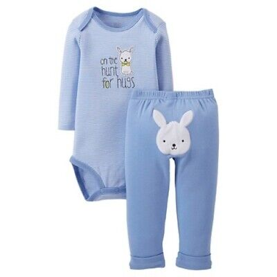 Easter Set Newborn NB On the Hunt for Hugs Easter Bunny Carters Just One You NWT