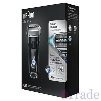 Braun Series 7 Mens Electric Foil Shaver Wet & Dry Precision Trimmer + Case