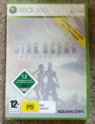 Microsoft Xbox 360 Game Star Ocean The Last Hope New Sealed Promo Version