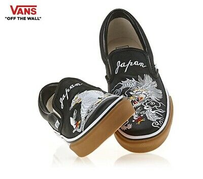 80471ae0e213d8 Vans ROLLICKING X Slip-on Skajum Black Tiger Dragon Fashion Sneakers