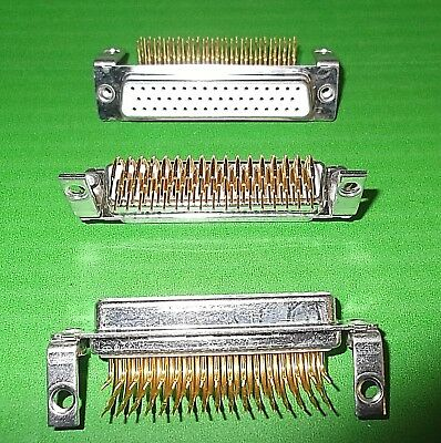 50 Way Dee Socket 50W D Right Angle PCB DX DND50SYCT-29 Turned Pin GOLD Ceep x 1
