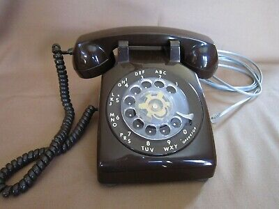 Chocolate Brown vintage ITT Own a Phone telephone