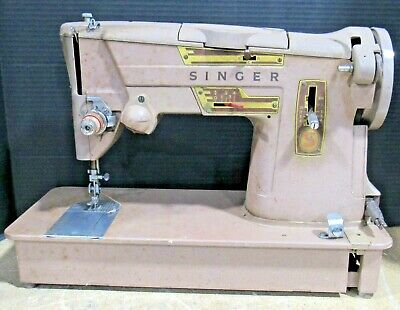 Parts or Repair Vintage Singer 328K Sewing Machine No Power Cord/Foot Pedal