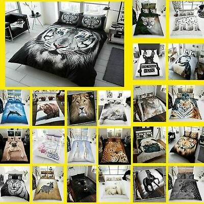 Duvet Cover 3D Animal Print Bedding Set With Pillowcase Single Double King New