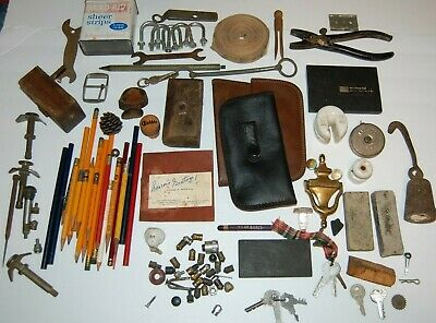 Junk Drawer Lot with Antique Items