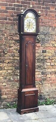 Mahogany Grandfather Clock William Dorvell Of Froan Margate Architectural Case