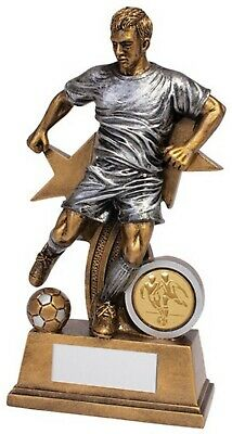 Personalised Warrior Stars Football Male Trophy RF19126A ENGRAVED FREE