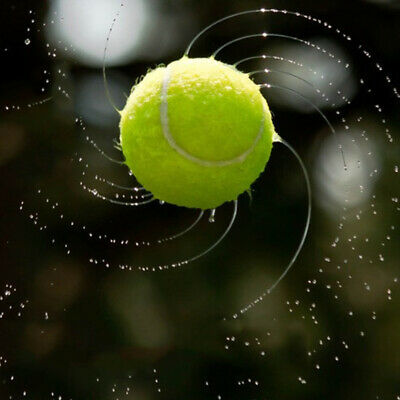"""Resilience Tennis Ball Exercise Rubber 2.56"""" Green Outdoor Sport Soft Training"""