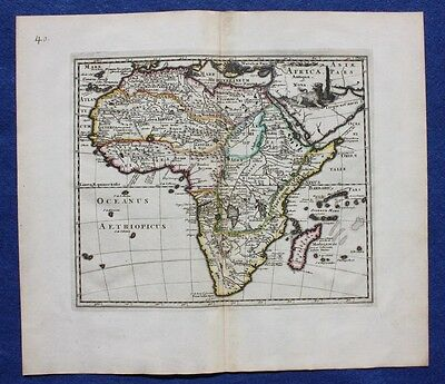Original antique map CONTINENT OF AFRICA 'AFRICA ANTIQUA ET NOVA', Cluver c.1697