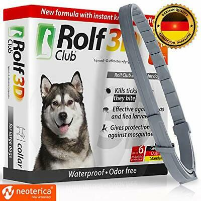 Rolf Club 3D FLEA Collar for Dogs - Flea and Tick Prevention for (25-65 LB)