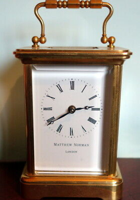 Mattew Norman 11 jewel quality carriage clock GWO