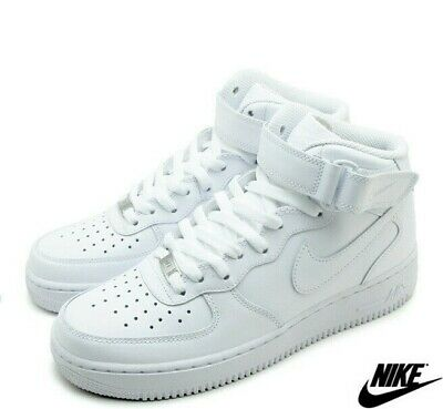NIKE MENS AIR Force 1 Mid 07 Fashion Trainers All White