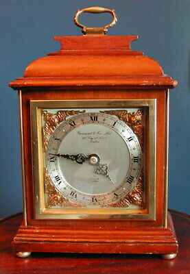 Quality Elliot of London bracket clock retailed by Garrards.