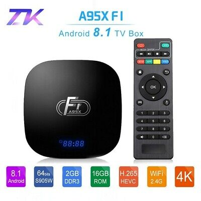 A95X F1 inteligente Android TV Box Android 8,1 Amlogic S905W 4 K 2 GB 16 GB 2,4