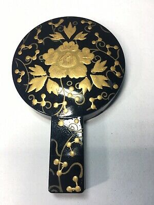 Japanese Hina Doll Furniture Lacquer Small Hand Mirror