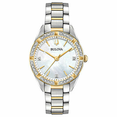 Bulova 98R263 Women's Diamond-Accent Two-Tone Stainless 32mm Watch