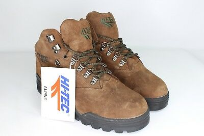 16ba7726511 VINTAGE 90S NEW Hi Tec Mens 10 Navajo Leather Outdoor Trail Hiking ...