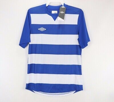 5f154016e64 New Umbro Mens Small Short Sleeve Striped Hoop Knit Soccer Jersey Royal Blue