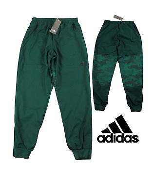 New Adidas Streetwear Mens Large Spell Out Camouflage Joggers Jogger Pants Green