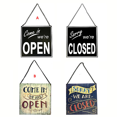 Reversible Open / Closed Hanging Shop Sign - Perfect For All Business 💥📸🇬🇧