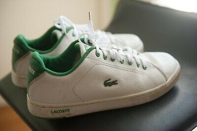 40b94cdf1 LACOSTE BOY S LEATHER Shoes Size 6 Youth White Green -  14.99