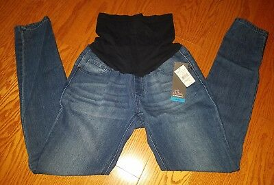 Nwt Oh Baby Maternity Womens Size M Skinny Jeans W/ Belly Support