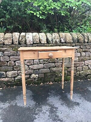Victorian Pine Table With Drawer - Bedside or Occasional -good condition