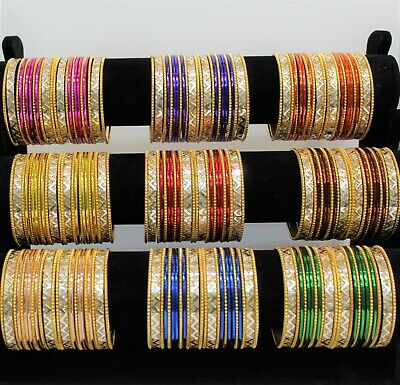 Costume Fashion metal bangle indian bollywood 24 chudi chudiya kids & adult size