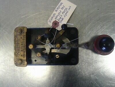 WW2 Era US Army Signal Corps Type J-38 Lionel Telegraph Key 1961 USER MARKED