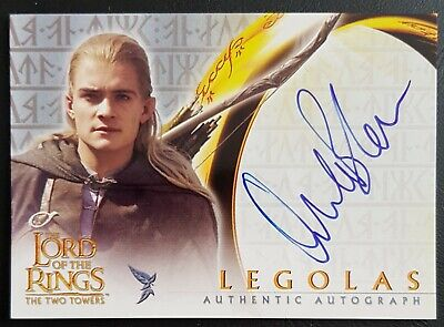 Lord of the Rings.Topps.The Two Towers.Orlando Bloom as Legolas.Signed.