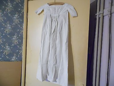 "Victorian, Edwardian babies long white cotton dress,night shirt, 22"" chest"