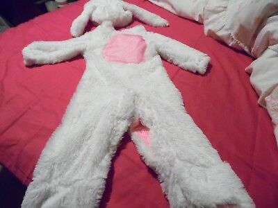 """Babies fluffy Easter bunny,rabbit snowsuit with hat & rabbit ears,velcro, 22"""""""