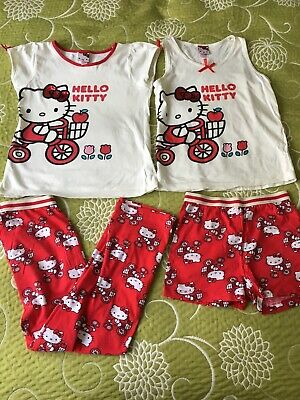 Mix & Match Hello Kitty Girls Summer Pyjamas 7-8-9 Y