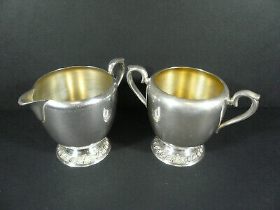Antique AVON Wm Rogers Silver Plated Creamer & Sugar 3603 / 3604