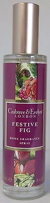 Crabtree & Evelyn LONDON Home Fragrance Room Spray Festive Fig Christmas Holiday