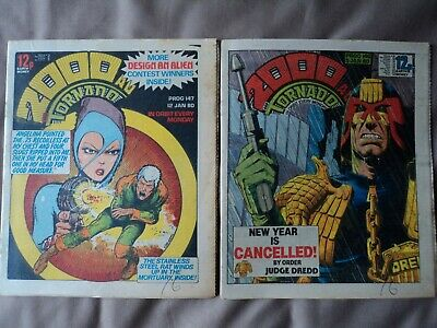 2 - Vintage 2000AD comics from January 1980 - Consecutive numbers  146 to 147