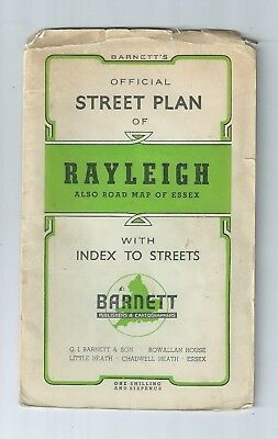 Barnett's Official Street Plan Rayleigh Hockley Hullbridge Rawreth Battlesbridge