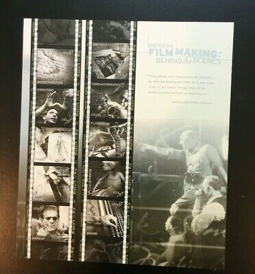 Stamps Scott's 3772 American Filmmaking Complete Sheet 10 S/A/MNH $.37