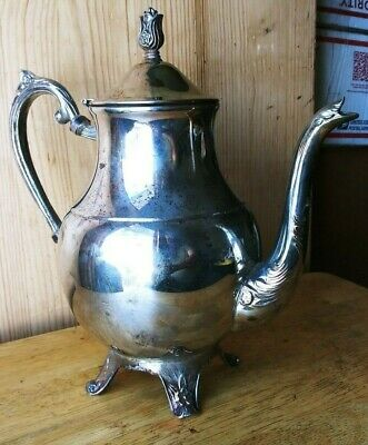 Fb Rogers Silver Plated Coffee / Tea Pot. Antique Floral Decoration.