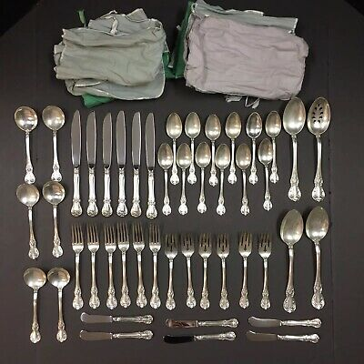 Stunning 46 PC Set TOWLE Old Master Sterling Silver Flatware No Monogram