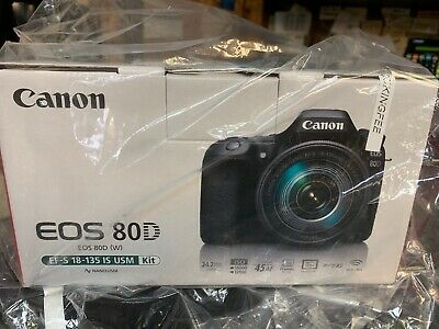 Canon EOS 80D Digital SLR with EF-S 18-135mm Lens, USA