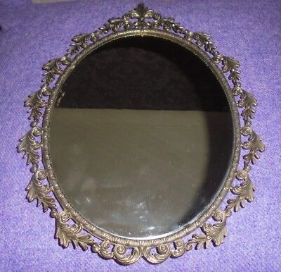 Arts And Crafts Oval Mirror Ornate