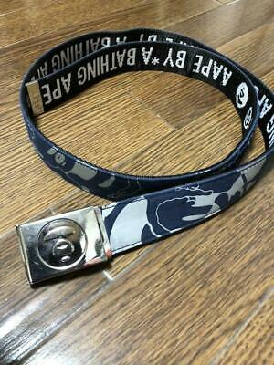 e6ec1e7fa1b4 A BATHING APE BAPE AAPE Camo Buckle Belt Authentic F S