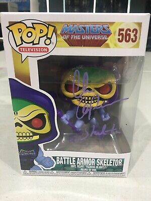 SIGNED Alan Oppenheimer Funko Pop Masters of the Universe Battle Armor Skeletor